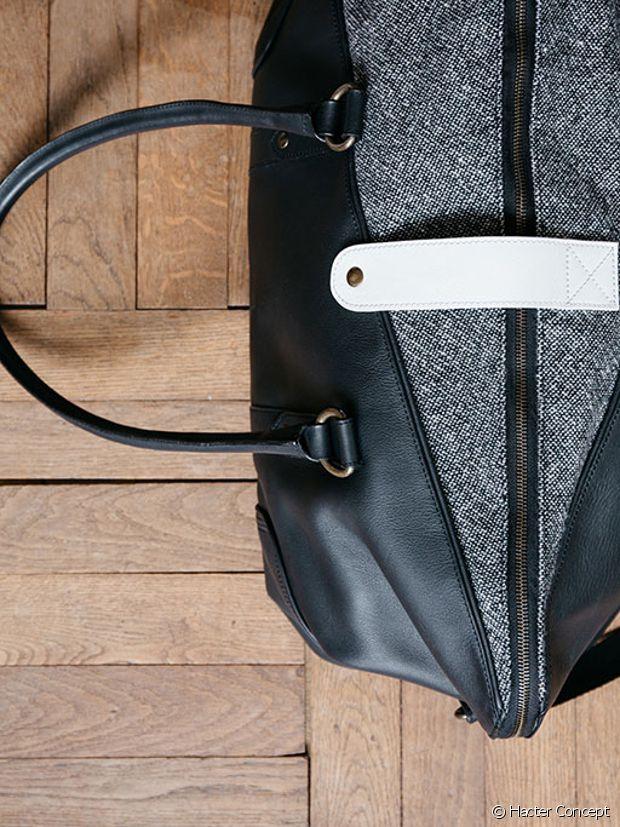 Tweed et cuir, si ce n'est pas un sac de dandy, ça...