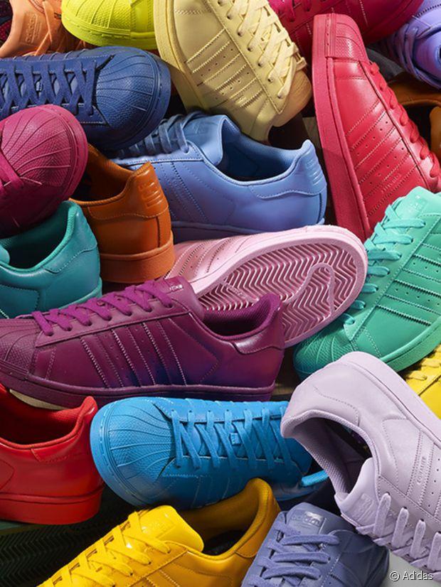 Les Adidas Supercolor, tout en couleurs...