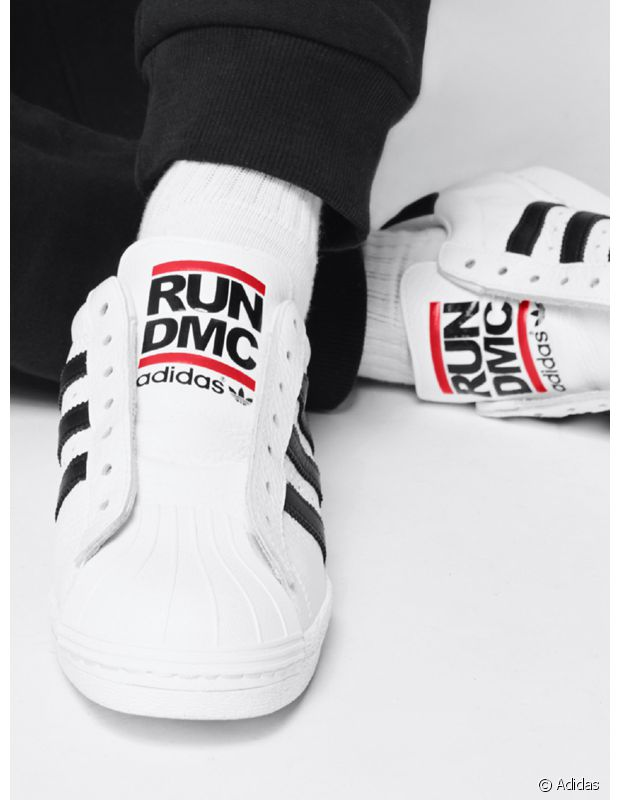 """Le groupe Run-D.M.C a été un porte-étendard des baskets Adidas dans les milieux """"street""""."""