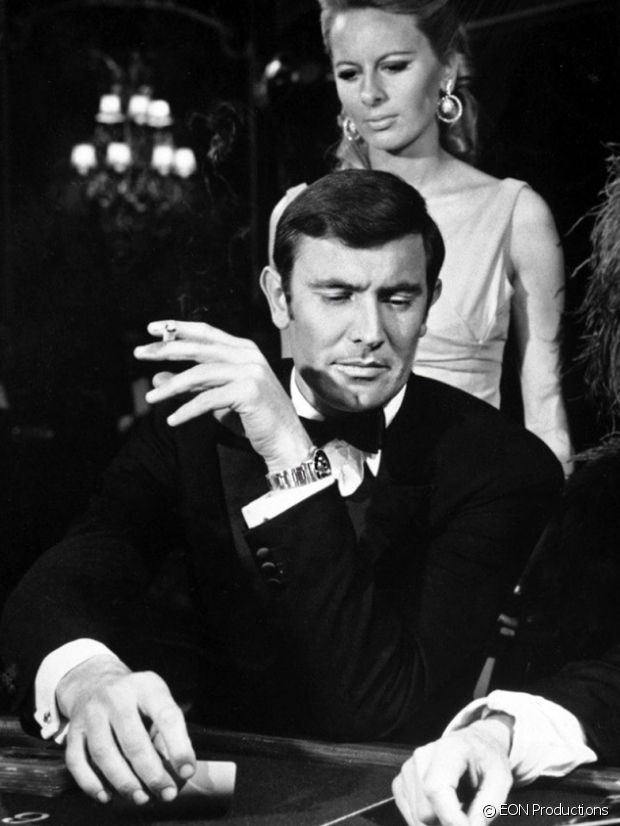 Georges Lazenby et sa Rolex au Service secret de Sa majesté
