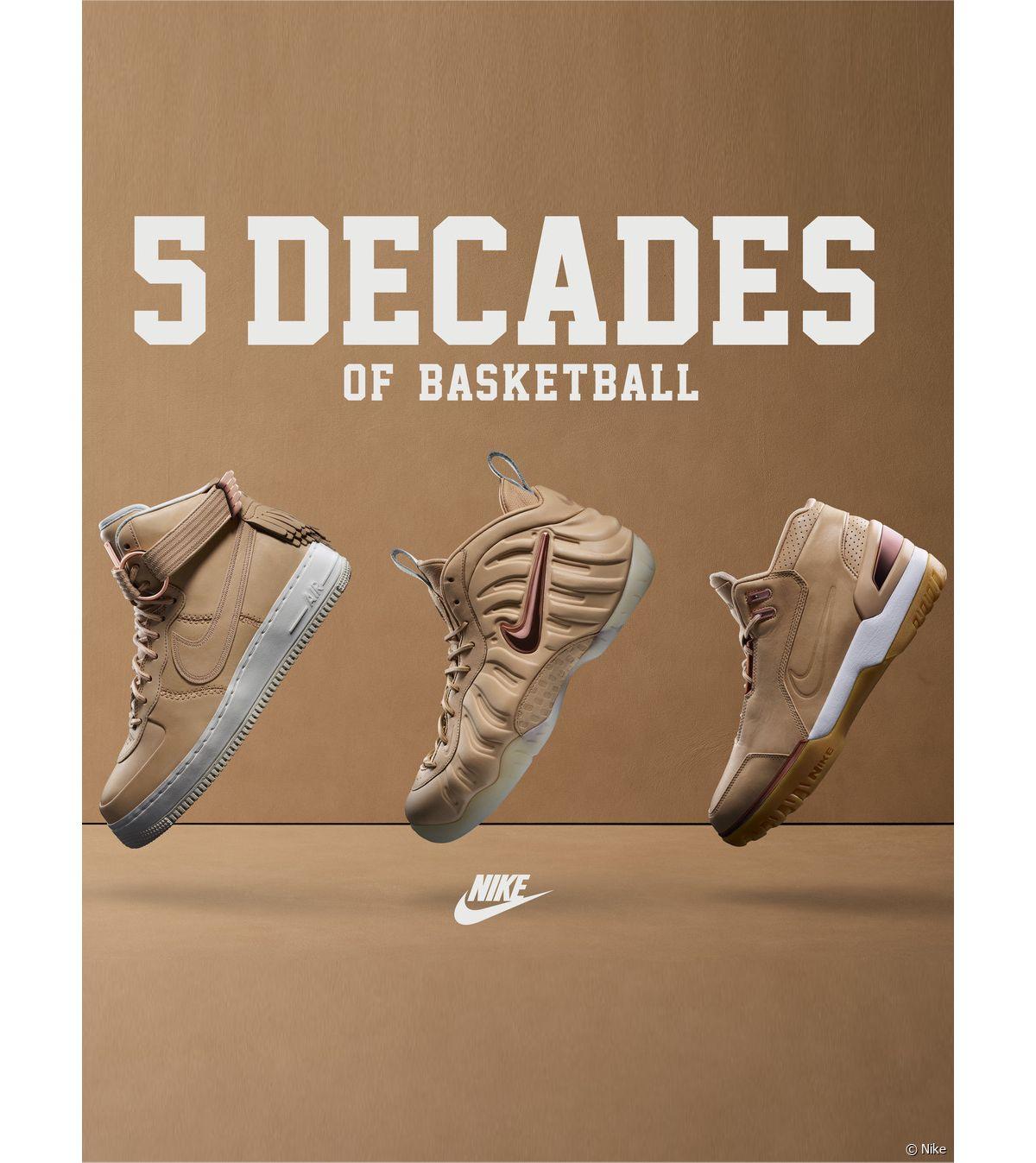 ffe8d207658d Baskets : Nike célèbre 5 décennies de basketball