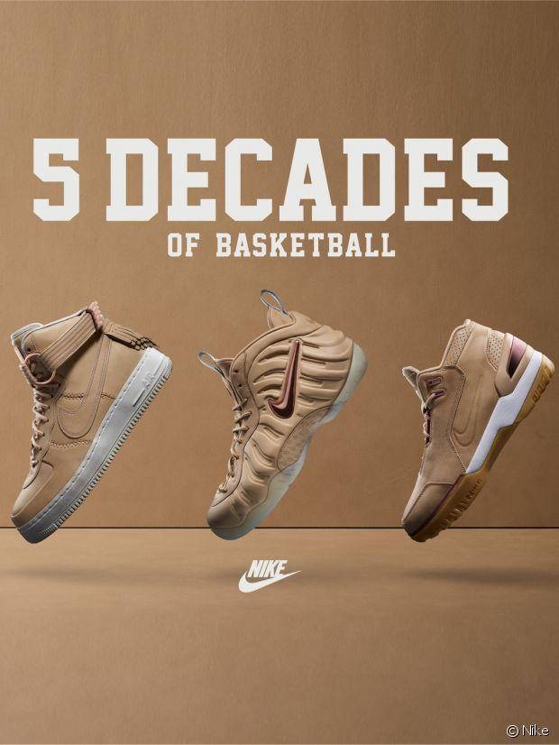 5 Nike Baskets Basketball Décennies Célèbre De AHn8Zqw