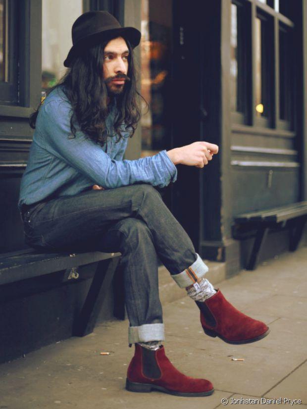 Un petit timbre dandy dans ces Chelsea boots...