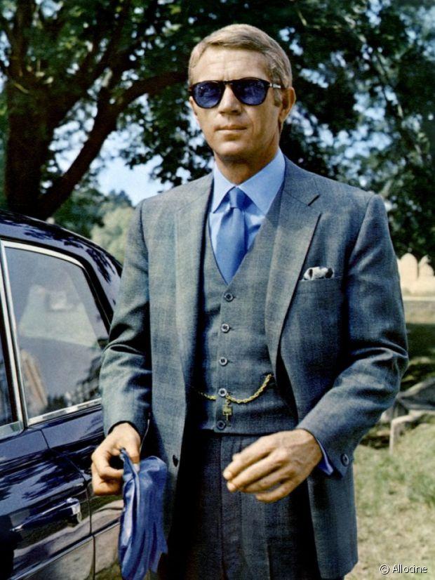 Steve McQueen et ses Persol à l'affiche de l'Afaire Thomas Crown