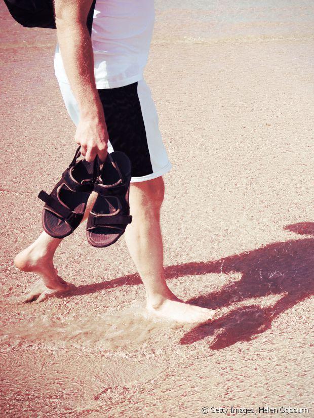 les sandales, pratiques mais pas très élégantes...