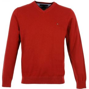 Pull col v pacific - rouge - homme - tommy...