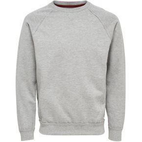 Sweat-shirt uni. only et sons light grey melange