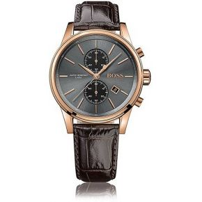 Montre chronographe à cadran gris soleillé avec...