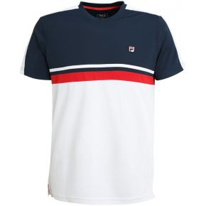Fila sid tshirt de sport white/peacoat...