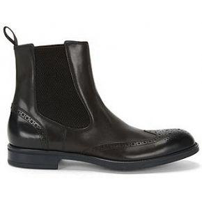 Boots chelsea en cuir à motif richelieu : «...