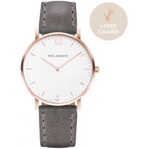 Montre sailor white sand or rose cuir gris